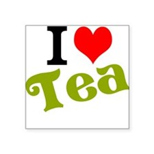 "I Love Tea Square Sticker 3"" x 3"""