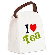 I Love Tea Canvas Lunch Bag