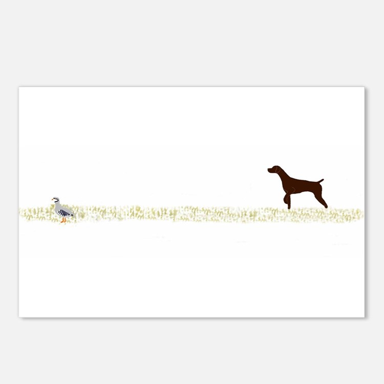 Solid Liver GSP on Chukar Postcards (Package of 8)