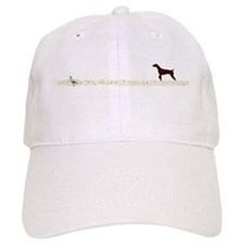 Solid Liver GSP on Chukar Baseball Cap