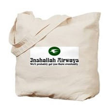 Inshallah Airways Tote Bag