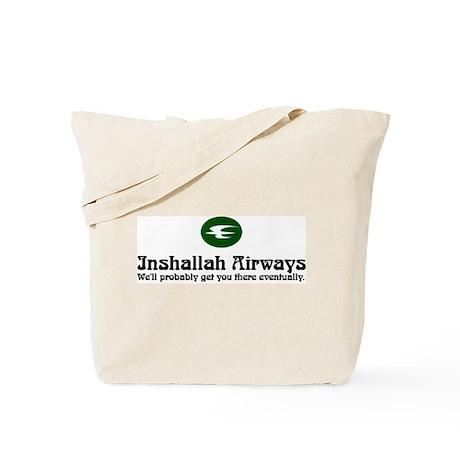 Inshallah Airways Tote Bag