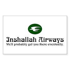 Inshallah Airways Rectangle Decal