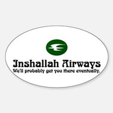 Inshallah Airways Oval Decal