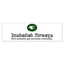 Inshallah Airways Bumper Bumper Sticker