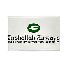 Inshallah Airways Rectangle Magnet