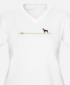 Solid Liver GSP on Chukar T-Shirt