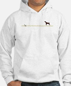 Solid Liver GSP on Chukar Hoodie