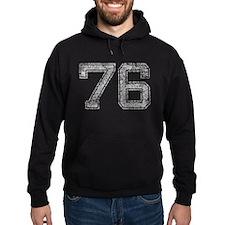 76, Grey, Vintage Hoodie
