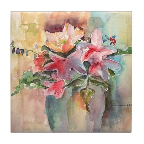 Vase of Flowers Tile Coaster