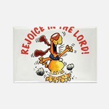 Rejoice In The Lord Pup Rectangle Magnet