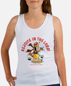 Rejoice In The Lord Pup Women's Tank Top