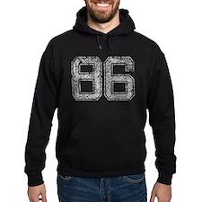 86, Grey, Vintage Hoodie