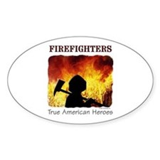 Firefighters TAH Oval Decal