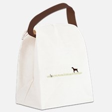 Solid Liver GSP on Chukar Canvas Lunch Bag