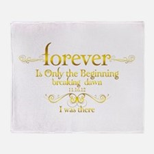 Breaking Dawn I was There Throw Blanket