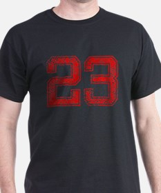 23, Red, Vintage T-Shirt