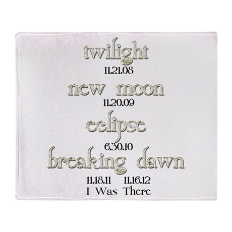All Twilight Dates I Was There Throw Blanket