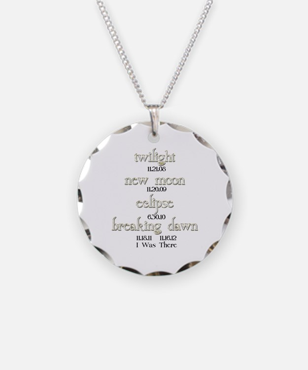All Twilight Dates I Was There Necklace