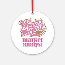Market Analyst (Worlds Best) Ornament (Round)