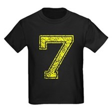 7, Yellow, Vintage T