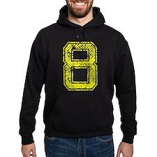 8, Yellow, Vintage Hoodie