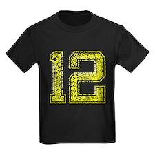 12, Yellow, Vintage T