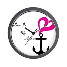 Love Is My Anchor Wall Clock