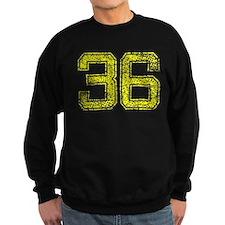 36, Yellow, Vintage Sweatshirt