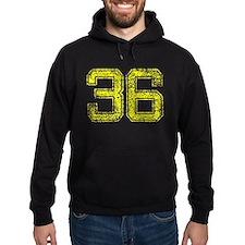 36, Yellow, Vintage Hoodie