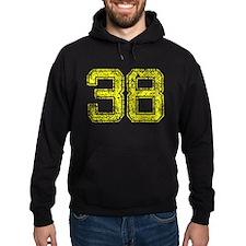 38, Yellow, Vintage Hoodie