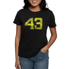 43, Yellow, Vintage Tee