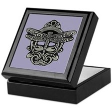 Art Nouveau Dragonfly Jewelry Box