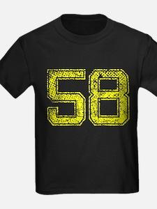58, Yellow, Vintage T