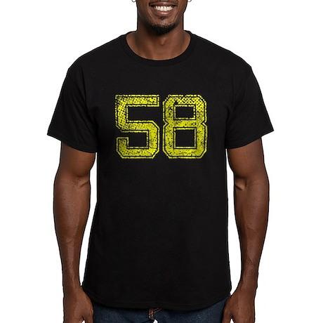 58, Yellow, Vintage Men's Fitted T-Shirt (dark)