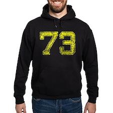 73, Yellow, Vintage Hoodie