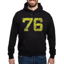 76, Yellow, Vintage Hoodie