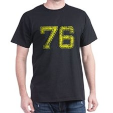 76, Yellow, Vintage T-Shirt