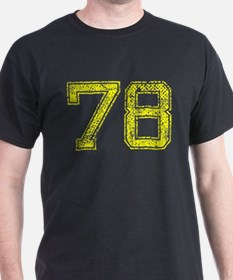 78, Yellow, Vintage T-Shirt