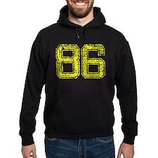 86, Yellow, Vintage Hoodie