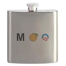 MPeach Obama Flask