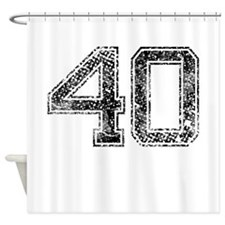 40, Vintage Shower Curtain