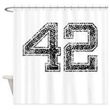 42, Vintage Shower Curtain