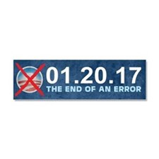 The End of an Error Car Magnet 10 x 3