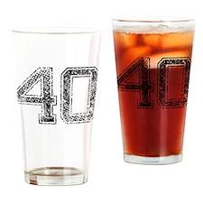 40, Vintage Drinking Glass