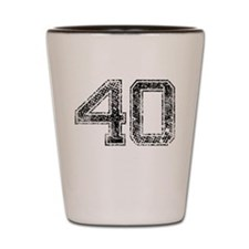 40, Vintage Shot Glass