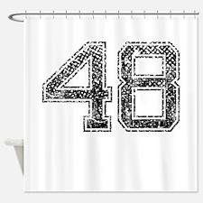 48, Vintage Shower Curtain