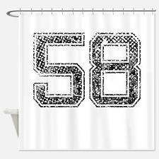 58, Vintage Shower Curtain