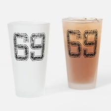 69, Vintage Drinking Glass