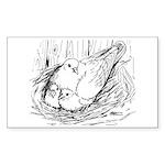 Nesting Pigeon Sticker (Rectangle 10 pk)